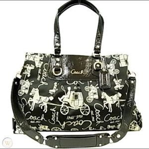 Coach Ashley Horse and Carriage  satchel Bag